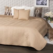 4Home Narzuta na łóżko Doubleface jasnobrązowa /brązowa, 220 x 240 cm, 2 szt. 40 x 40 cm