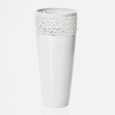 Váza Cara Mia 1, 33 cm, bílá