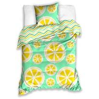 Bavlněné povlečení Citrony, 140 x 200 cm, 70 x 90 cm