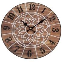 Ceas de perete Mandala 34 cm, natural