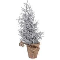Vianočný stromček v jute Monza 35 cm, strieborná