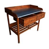 Drewniany stół pomocny do grillowania Alan, 100 x 55 x 90 cm