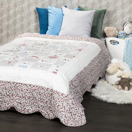 4Home Detský prehoz na posteľ Little Friends, 140 x 200 cm