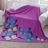 Pătură Domarex BUTTERFLY 3D violet, 150 x 200 cm