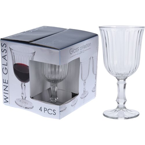 Excellent Houseware Sada sklenic na víno 240 ml, 4 ks