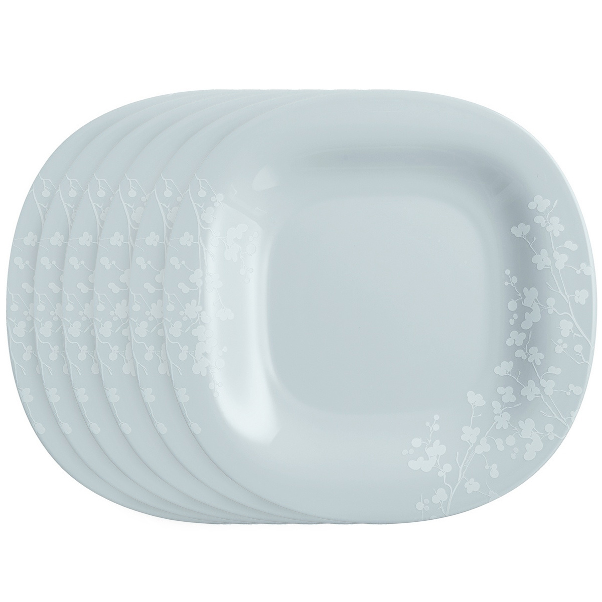 Luminarc Sada dezertných tanierov Ombrelle 19 cm, 6 ks, sivá