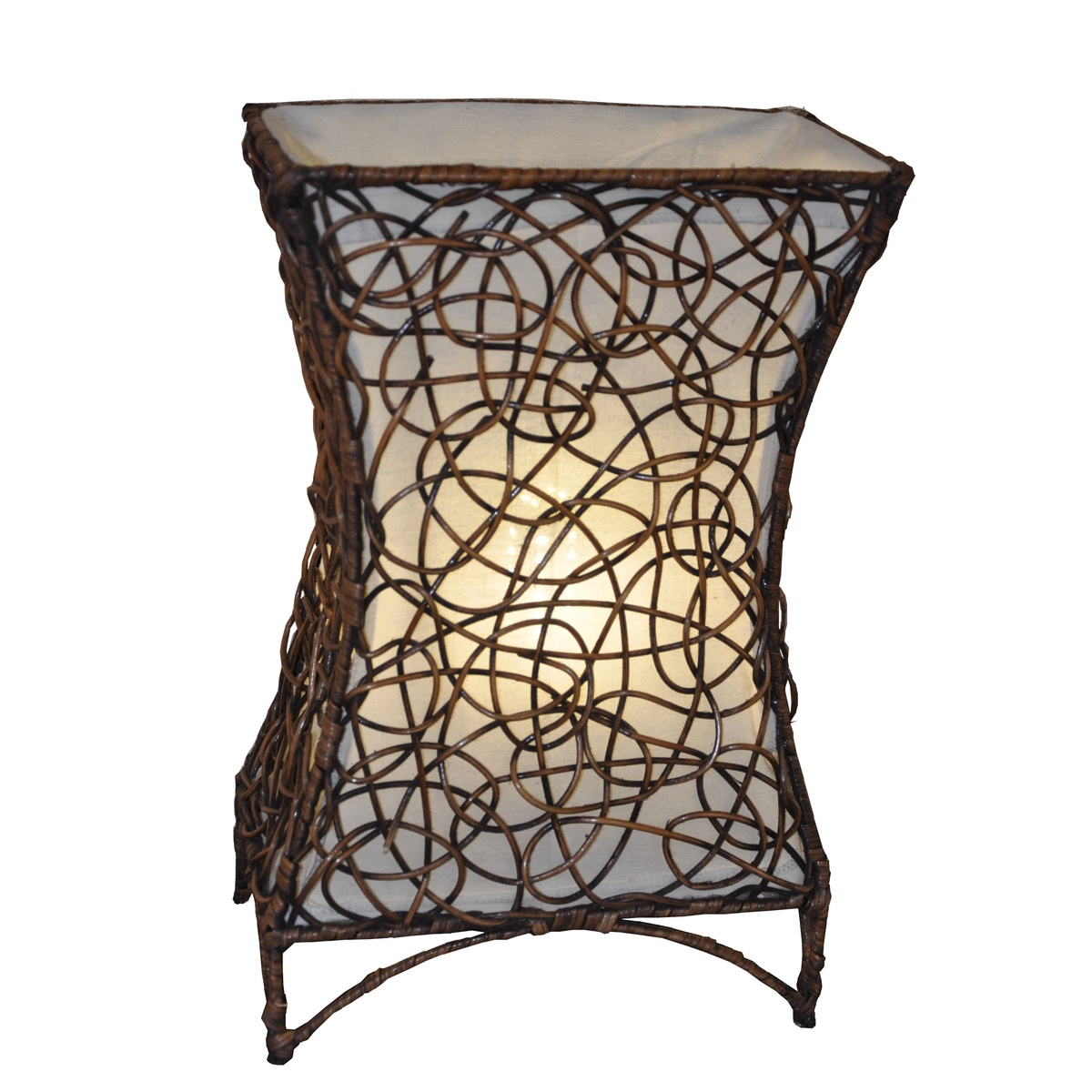 Stolná lampa ratanová