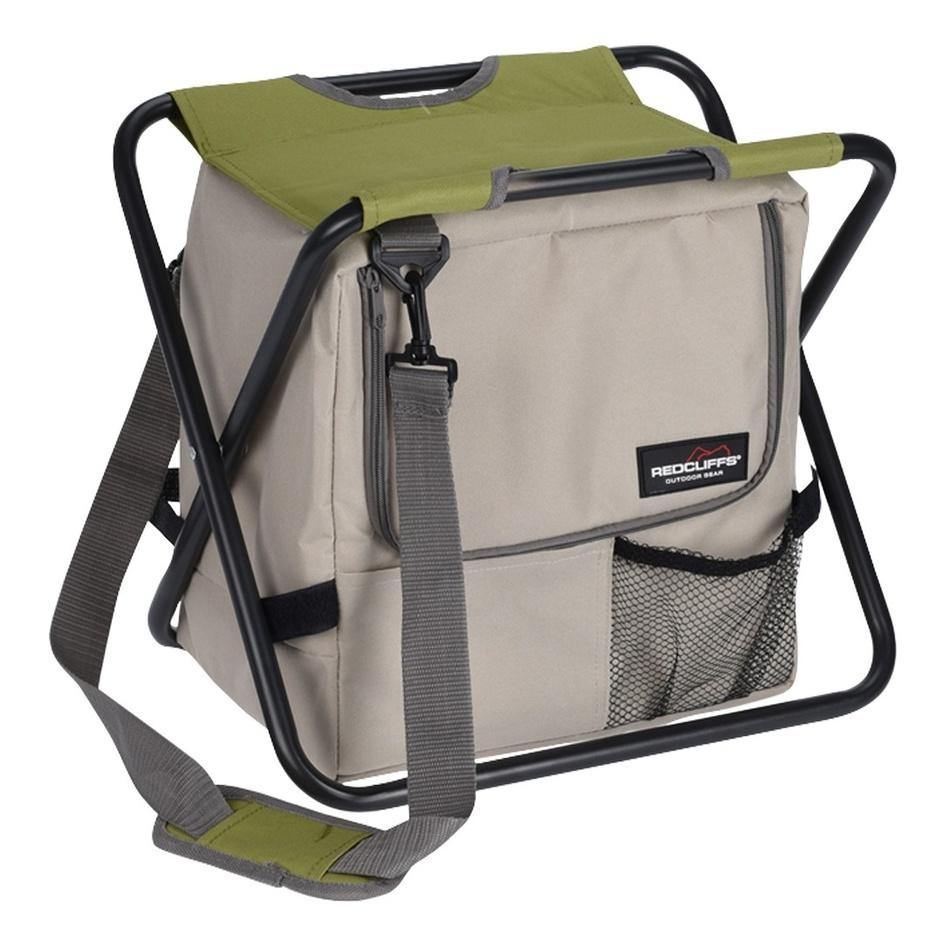 Skládací stolička s chladicí taškou Redcliffts, béžová