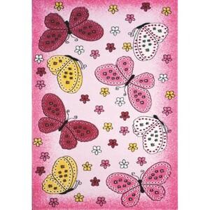 Spoltex Dětský koberec Toys pink C 259, 133 x 195 cm