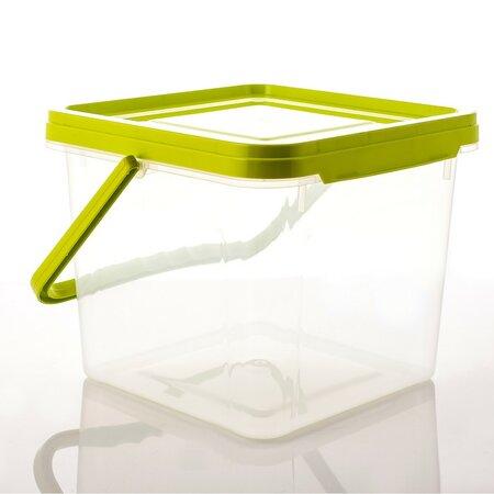 Doză plastic Aldo, cu mâner, 6,3 l