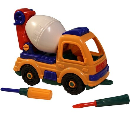 Stavební auto skládací, vícebarevná
