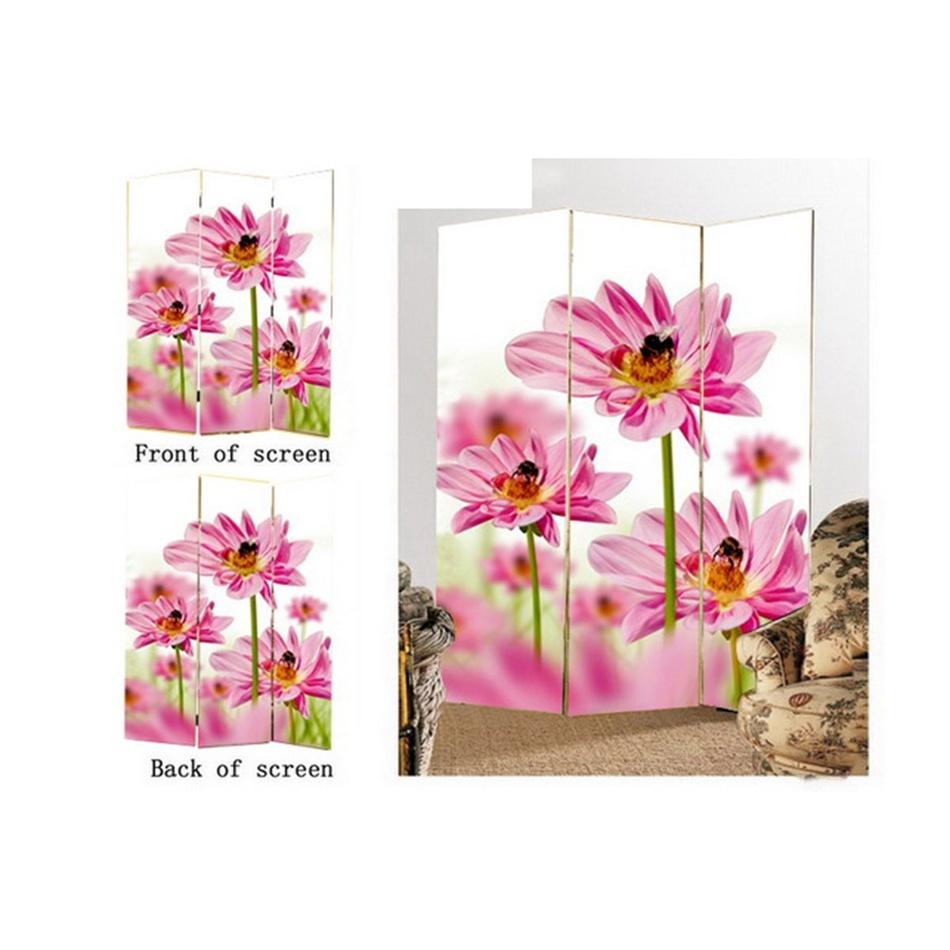 Paravan kvety 3dielny