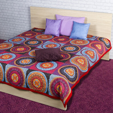 Narzuta na łóżko Gipsy pomarańczowy, 160 x 220 cm