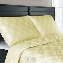 Veba Lenjerie de pat din damasc Geon Art Floare galbenă, 140 x 220 cm, 70 x 90 cm