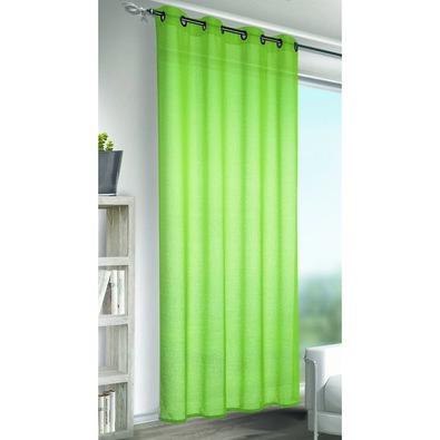 Albani Alex függöny karikákkal, zöld, 245 x 140 cm