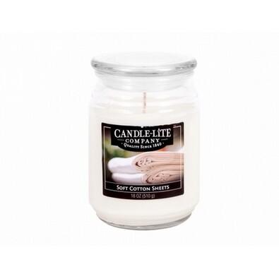 Candle-lite Vonná svíčka Jemná bavlna, 510 g