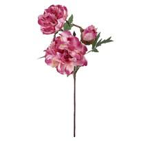 Kwiat sztuczny Piwonia, ciemnoróżowy, 56 cm