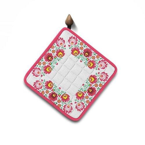 Domarex Kuchyňská podložka Folk růžová, 20 x 20 cm