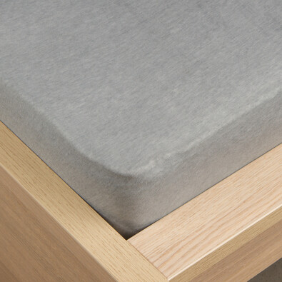 Jersey prestieradlo Klasik sivá, 180 x 200 cm