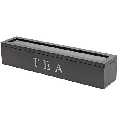 Koopman Box na čajové sáčky 43 x 9 x 8,7 cm, černá