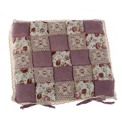 Pernă scaun Patchwork Carouri violet, 40 x 40 cm