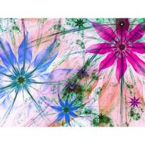 Fototapeta XXL Kvetinové siluety 360 x 270 cm, 4 diely