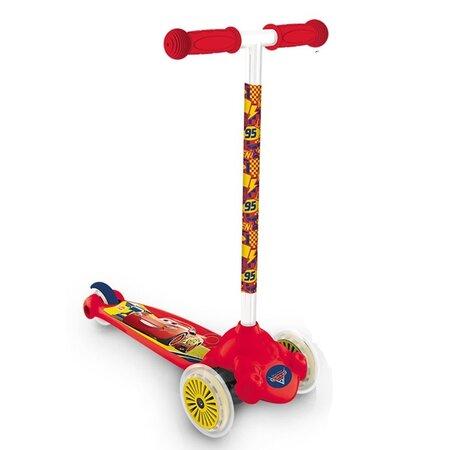 Dětská koloběžka s 3 kolečky Twist Auta, červená