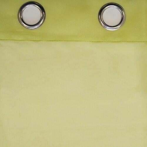 Závěs s kroužky Jake zelená, 135 x 245 cm