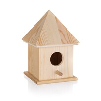 Drewniana budka dla ptaków, 10,4 x 10,4 x 15,5 cm
