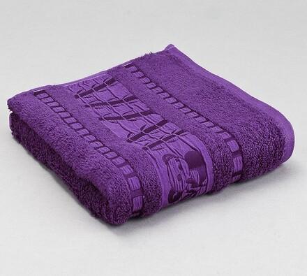 Sada 2 ks bambusových ručníků, fialová, fialová, 50 x 90 cm