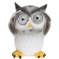 Solárne svetlo Standing owl sivá, 9 x 9 x 12,5 cm