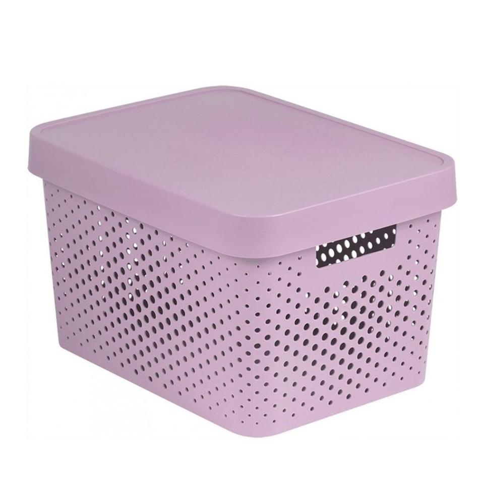 Curver úložný box Infinity 17 l, růžová