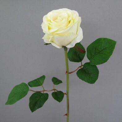 Umělá květina růže 65 cm bílá 6 ks