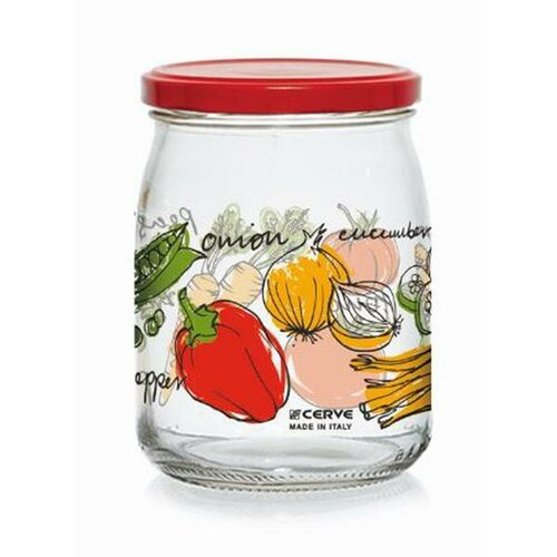 Zavařovací sklenice s víčkem ZELENINA 500 ml, 6 ks