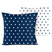 4Home Povlak na polštářek Stars navy blue, 40 x 40 cm, sada 2 ks