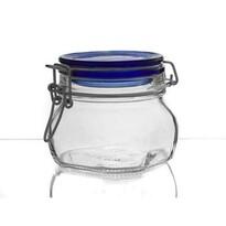 Doză borcan cu capac Banquet Fido Blue  0,5 l