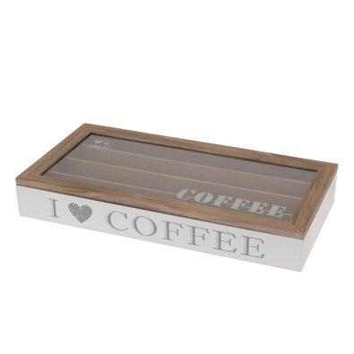 Orion Drevený box na kávové kapsule Coffee