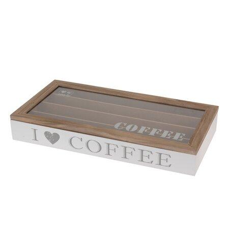 Orion Dřevěný box na kávové kapsle Coffee