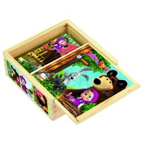 Bino kockajáték, Mása és a medve, 9 db-os
