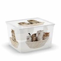 KIS Dekoračný úložný box C-Box Puppy & Kitten Cube, 27 l