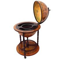 Bar drewniany Globus, 93 x 50 x 50 cm