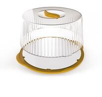 Pojemnik przenośny na tort 36,5 cm, żółty