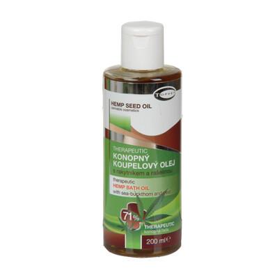 Konopný koupelový olej 71%, Topvet, 200 ml