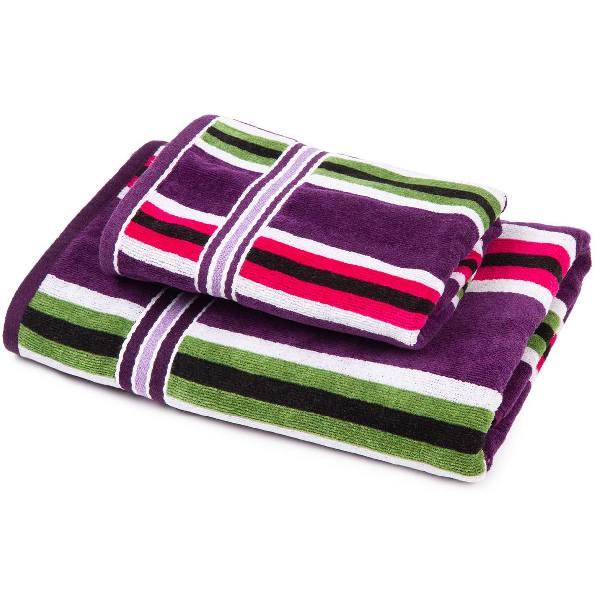 Jahu Sada Stripes Eda ručník a osuška, 70 x 140 cm, 50 x 90 cm