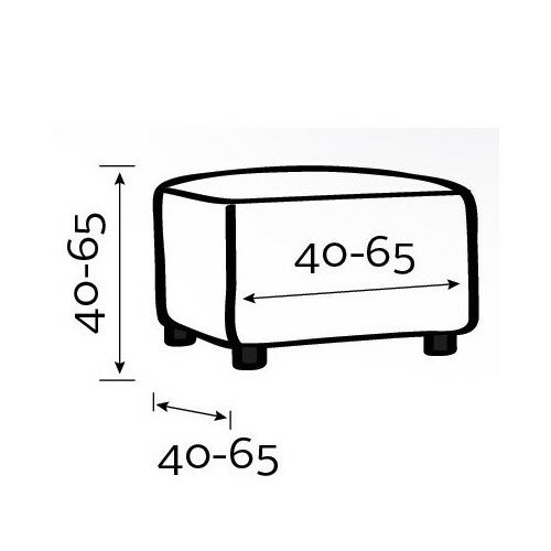 Multielastický poťah na taburet Martin teraktora, 60 x 60 cm