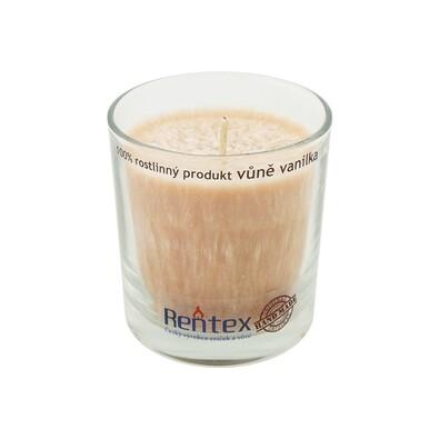Palmová vonná svíčka ve skle vanilka