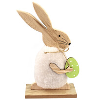 Dřevěný velikonoční zajíček Flip, 22 x 12 cm