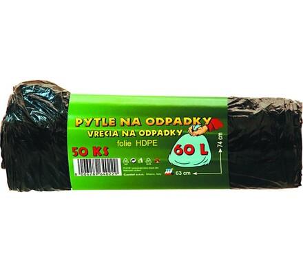 Pytle na odpad 60 l, černá