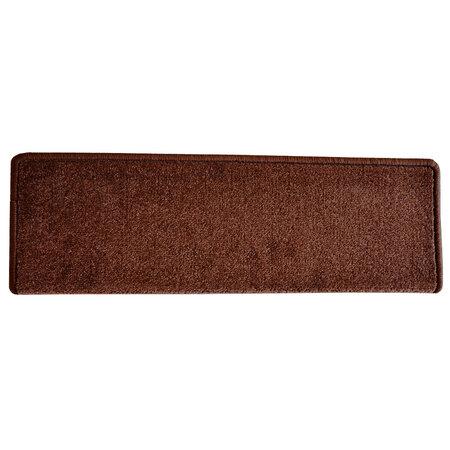Eton téglalap lépcsőszőnyeg, barna, 24 x 65 cm