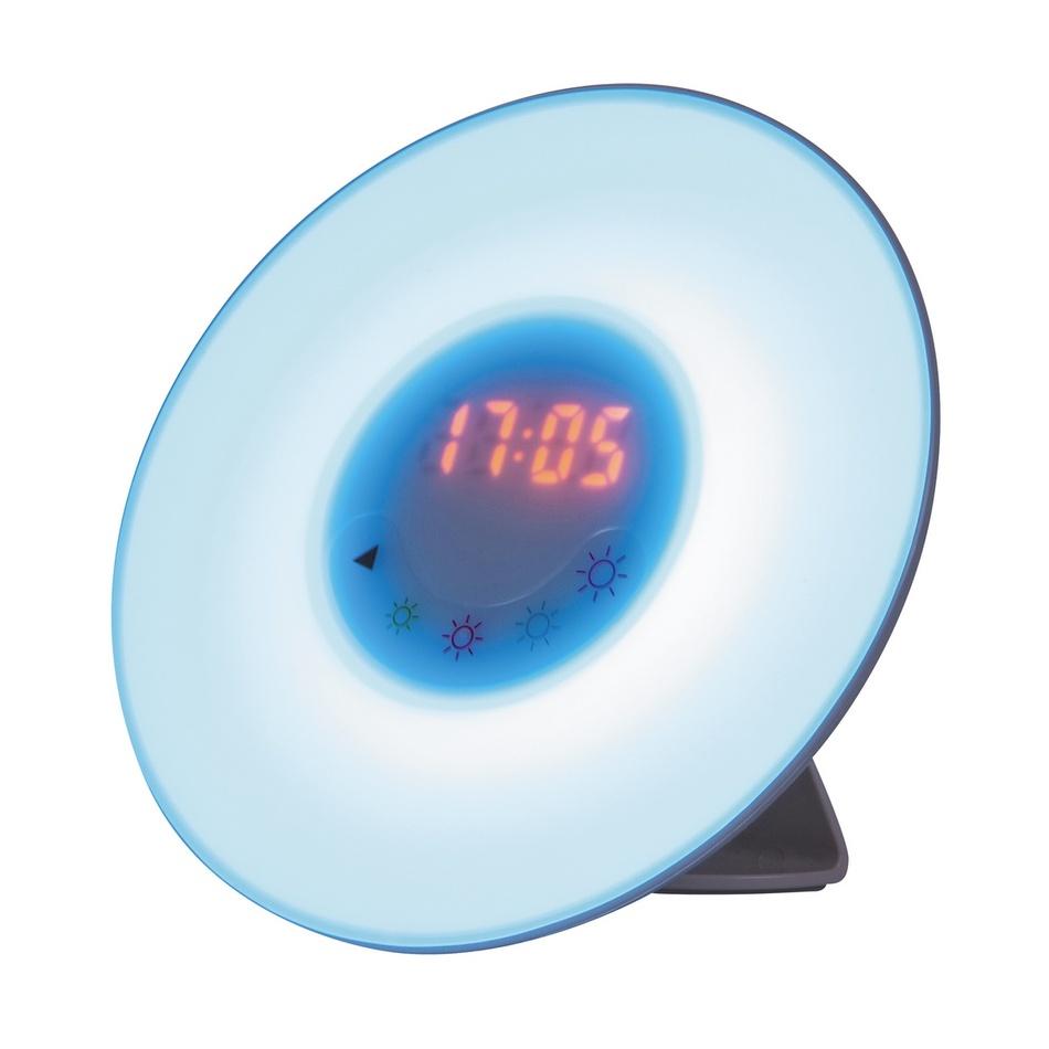 Produktové foto Rabalux 4423 Penelope stolní LED lampa s budíkem, bílá
